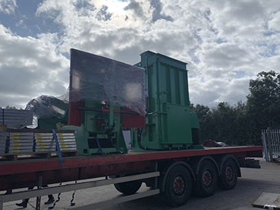 Dispatch of tyre recycling equipment