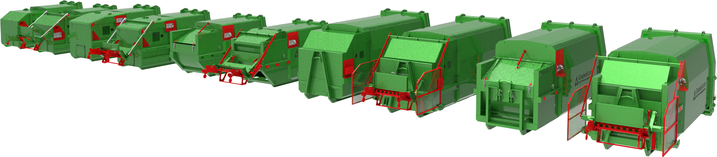 gradeall portable waste compactors for general and wet waste types